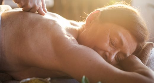 Mature woman at vancouver massage center for lymphatic-drainage-massage