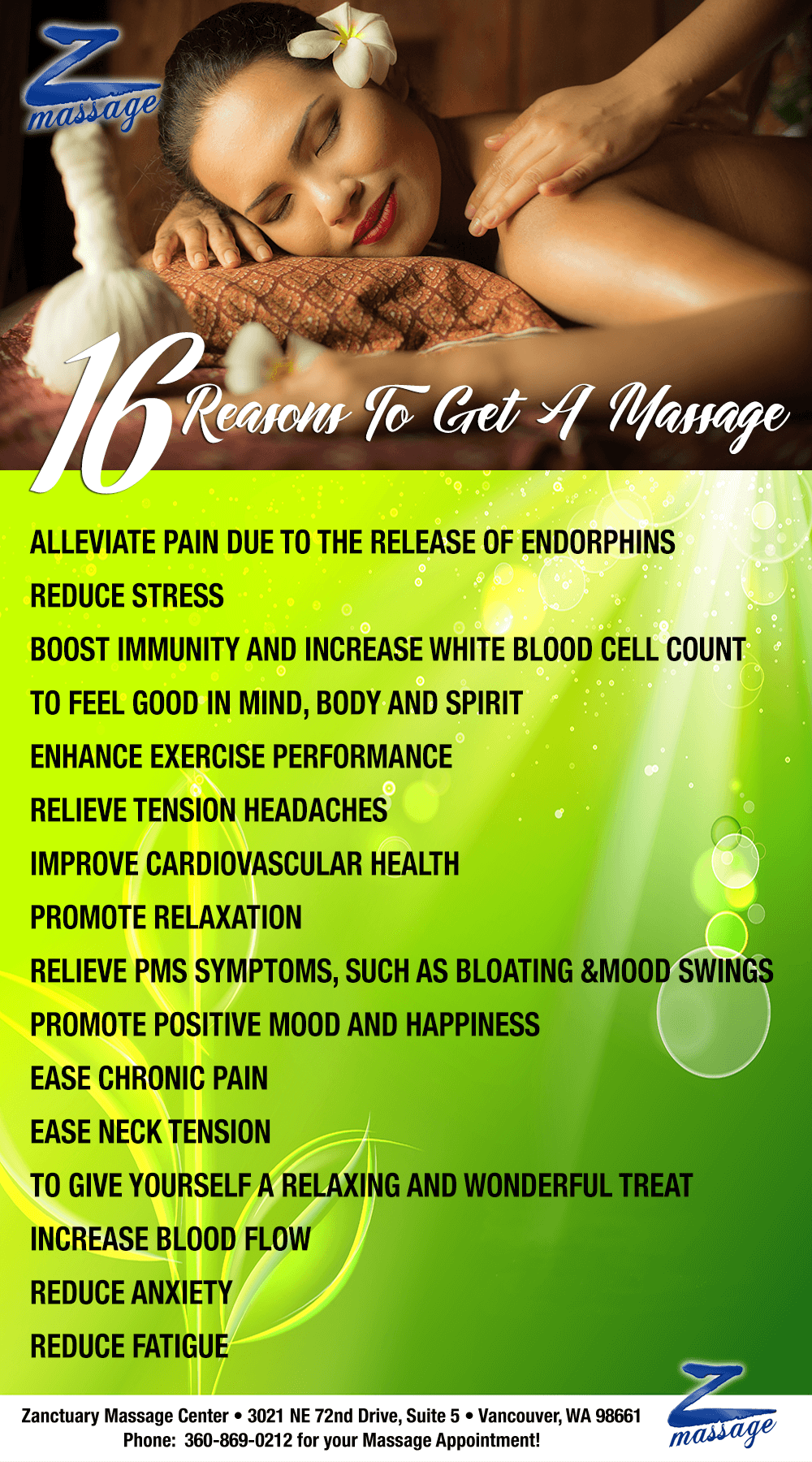 16-reasons-for-massage-infographic-Zanctuary-massage-center
