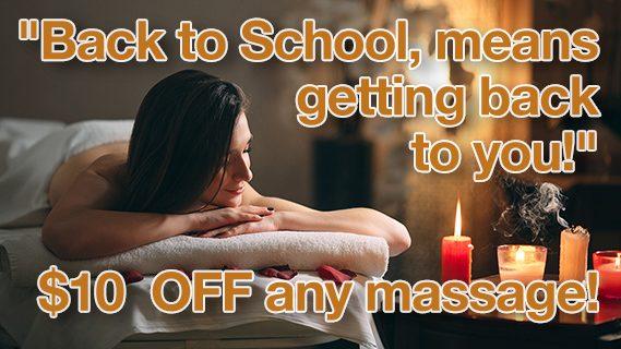 SEPTEMBER Massage Special